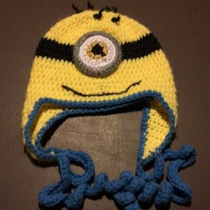 Hand made minion hat infant